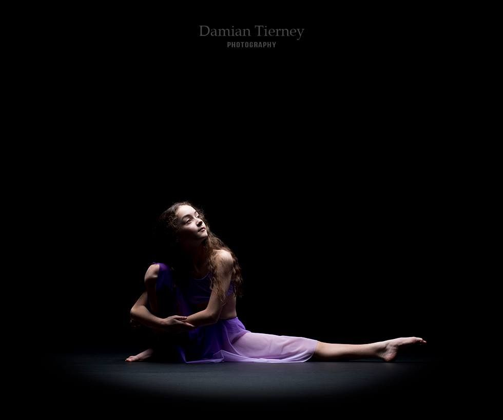 Photo by Damian Tierney  Ombré stretch mesh circle skirt
