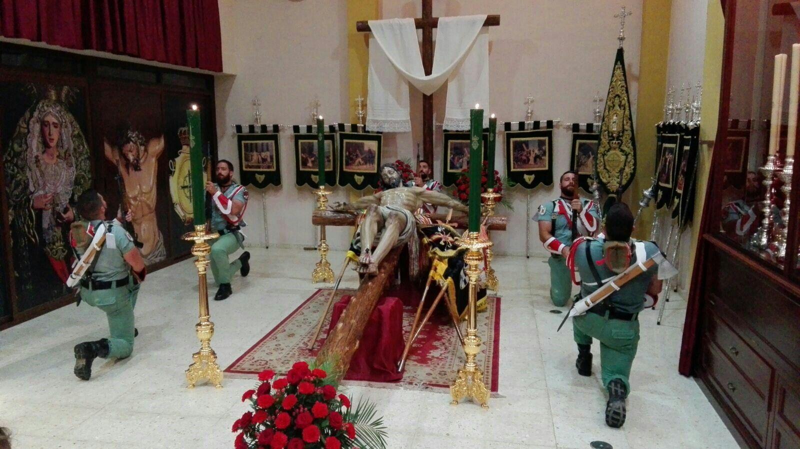 Cristo de Mena. Legión española.   Málaga, España