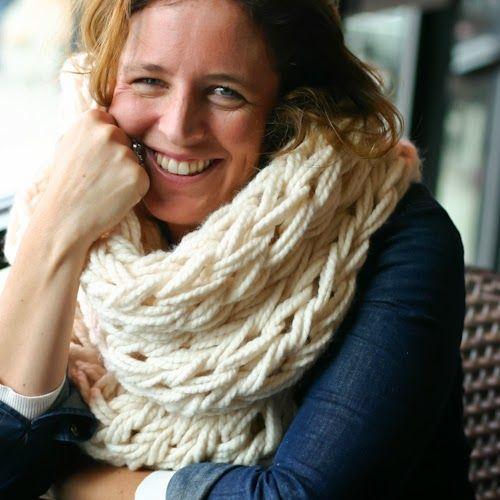 flax & twine   arm knit cowls