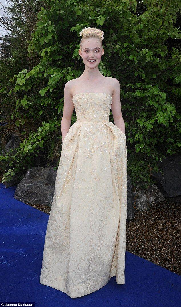 Elle Fanning Looks Lovely In Lemon Dress At Maleficent Event Dresses Elle Fanning Celebrity Fashion Looks,Cheap Wedding Dresses Near Me
