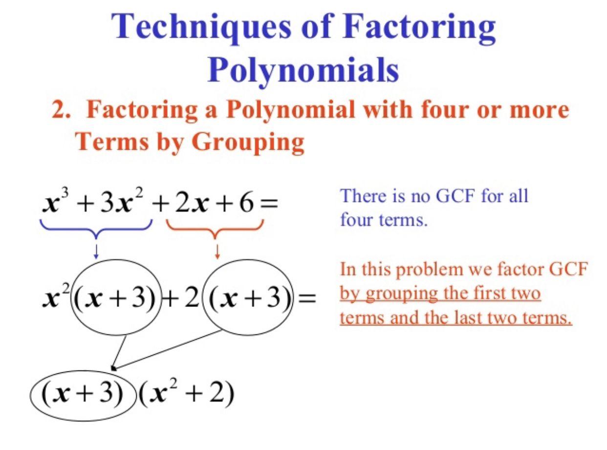 Factoring Using Grouping