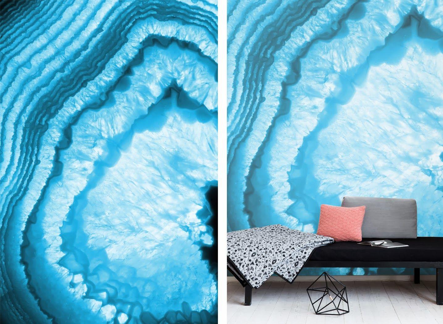 Blue Agate Wall Mural Pixers Design 2 Decor Interior