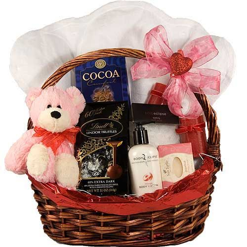 Valentine gift basket ideas gift baskets pinterest valentine valentine gift basket ideas negle Image collections