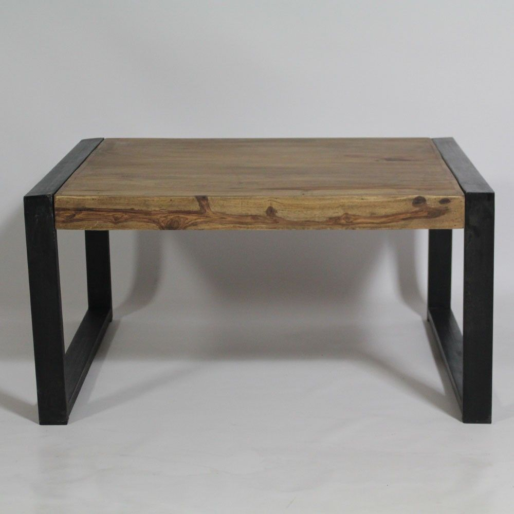 Table Basse Industrielle Carr E En Bois De Palissandre Table  # Grande Table Basse Carre Indus