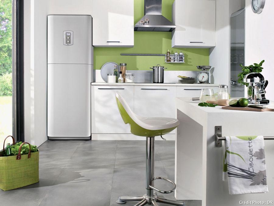 Cuisine blanche et verte Déco shabby, rustique,bohemian, design