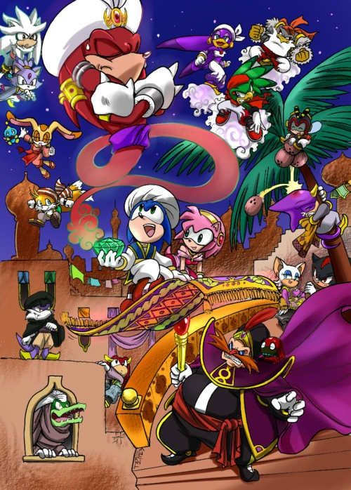 One Thousand And One Nights Sonic Version Sonic Fan Characters