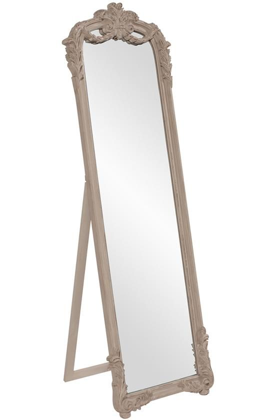 Lovely Antique Floor Mirror With Stand  Freshomedaily