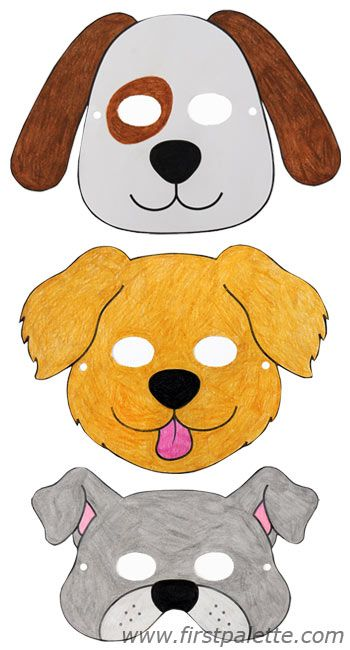 Dog masks and other free printable animal masks for Dog mask template for kids