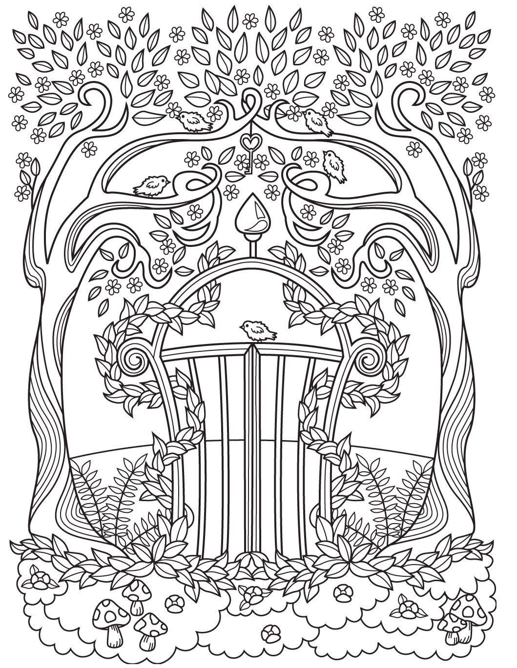 gardens colorish coloring book app for adults mandala relax by goodsofttech - Adult Coloring Book App