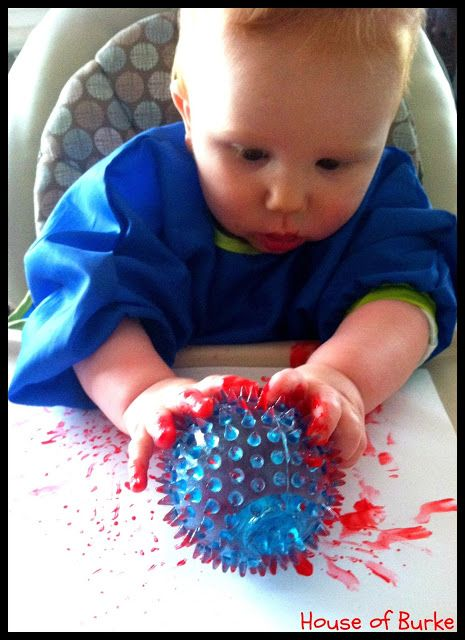 Spiky Ball Painting Art For Infants Baby Sensory Play Baby Room
