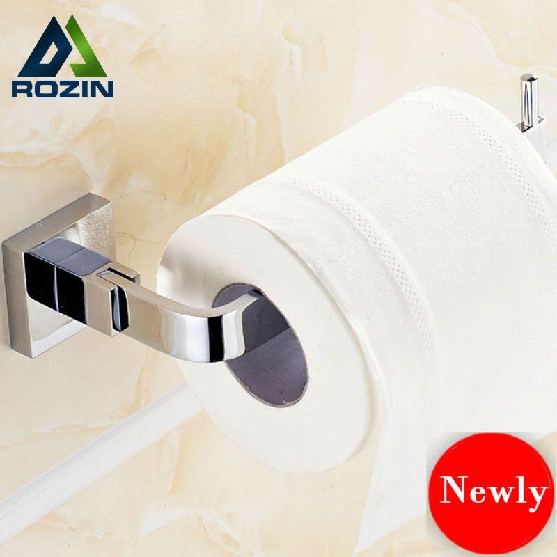 Chrome Paper Holder Roll Shelf Toilet Tissue Stainless Steel Unique Bathroom Tissue Decorating Design