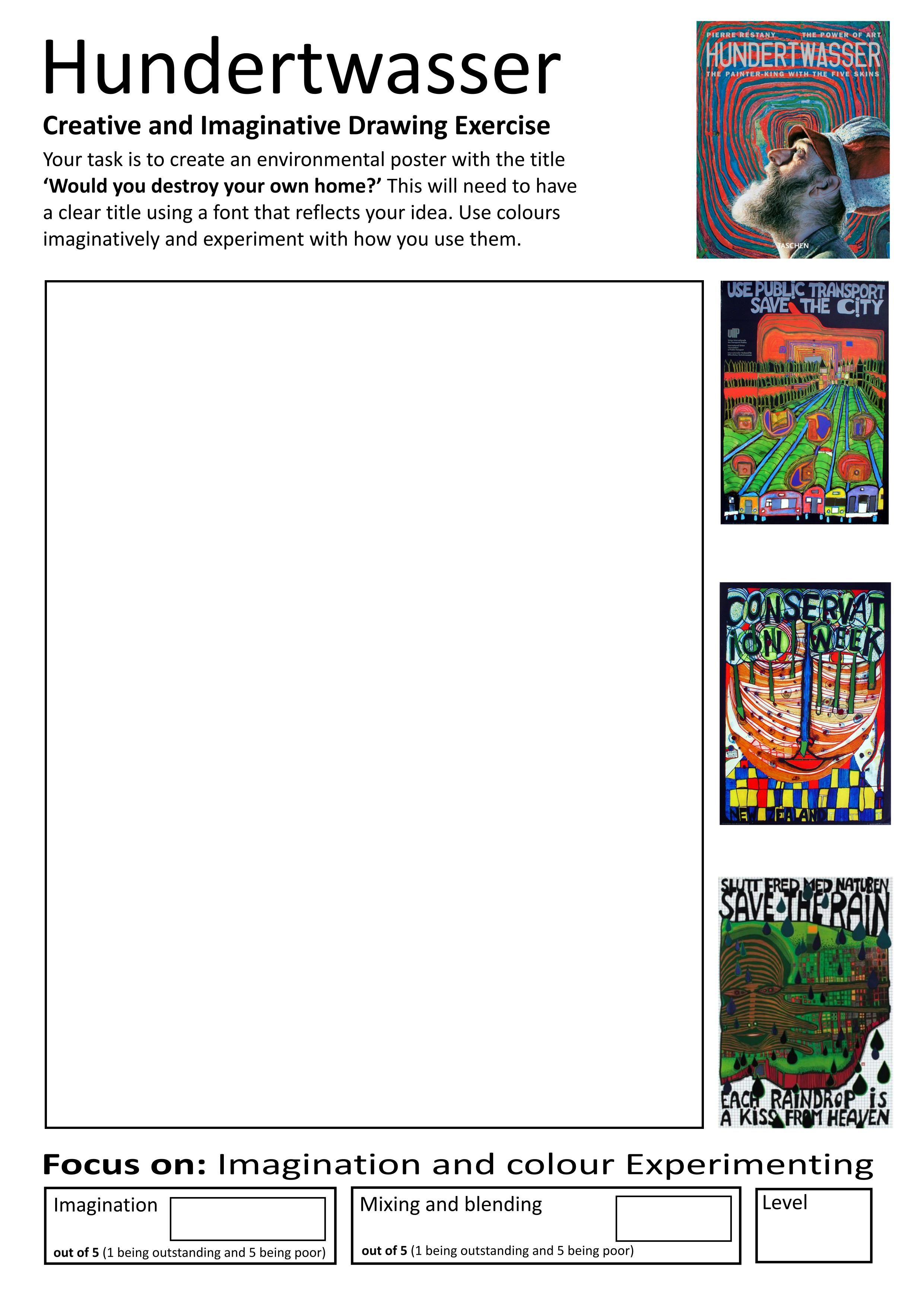 Home Learning booklet Page   Art worksheets [ 3508 x 2481 Pixel ]