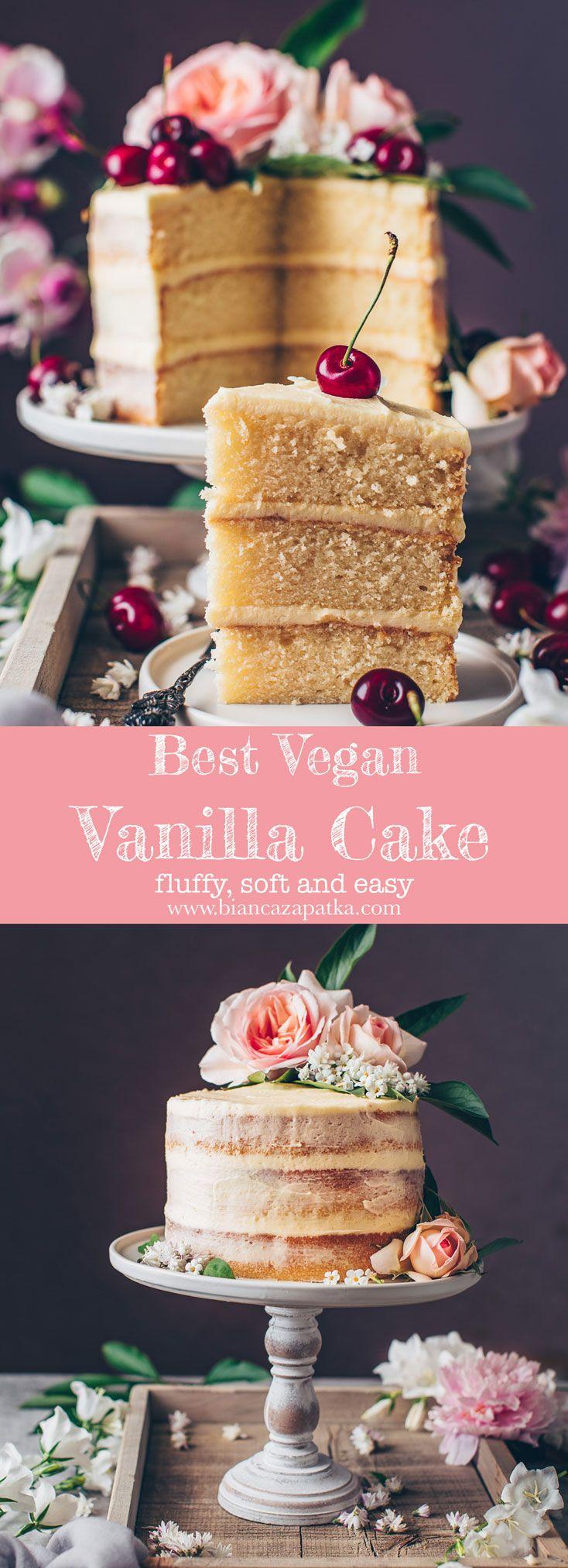 Photo of Vegan Vanilla Cake Recipe – Bianca Zapatka | Recipes