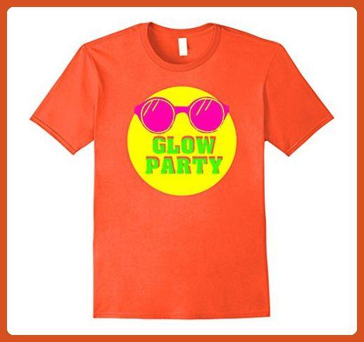 Mens Glow Party Neon Sunglasses Kids Birthday T Shirt XL Orange