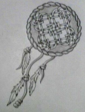 967488b7205a2 celtic knot dreamcatcher hearts tattoo.... not necessarily my style, but  it's a cool idea