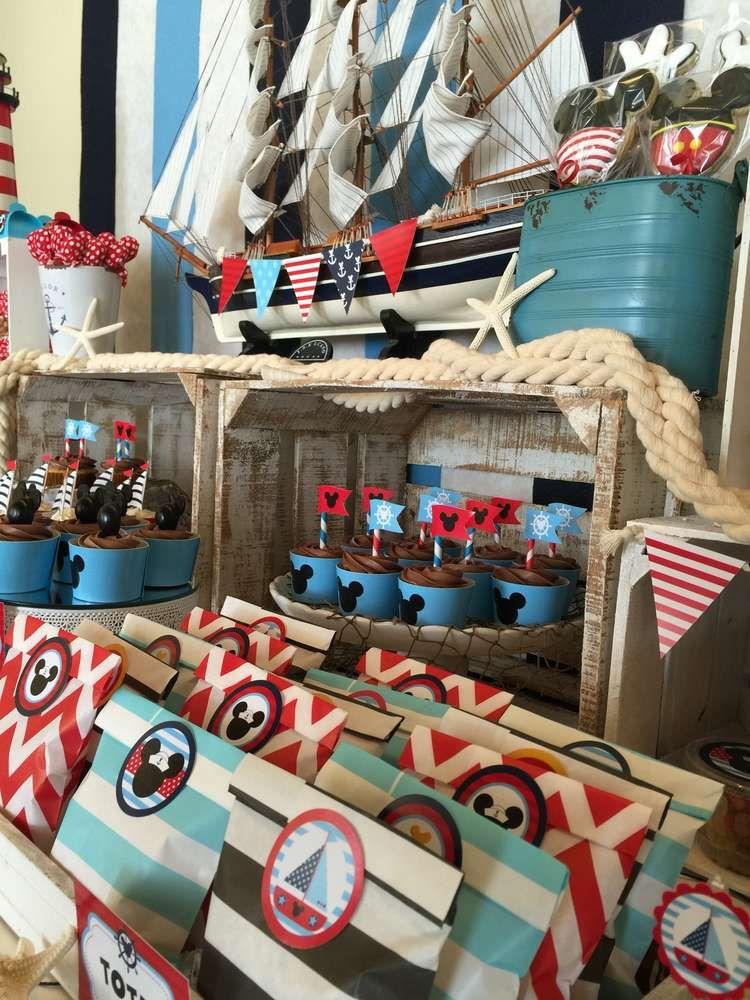 Mickey mouse birthday party ideas mickey marinero cumple y fiesta de marinero - Fiesta marinera decoracion ...