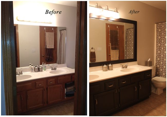 Painting Bathroom Cabinets Painting Honey Oak Cabinets Honey - Black mirrored bathroom cabinet for bathroom decor ideas