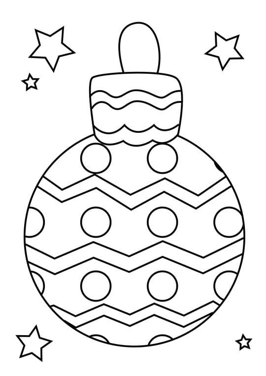 Coloriage boule de Noël formes géométriques | Coloriage ...