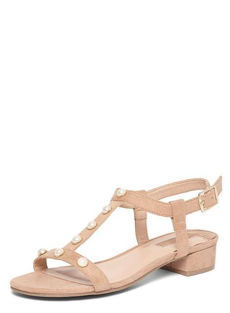 188a09022d Nude 'Furl' Pearl TBar Sandal | My nude shoes for petites | Nude ...