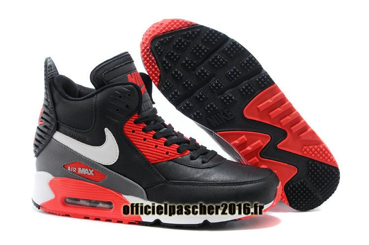 sneakers for cheap 03cd8 686fc Officiel Nike Air Max 90 Sneakerboot Winter Chaussures Nike Basketball Pas  Cher Pour Homme Noir - Rouge - Gris - Blanc
