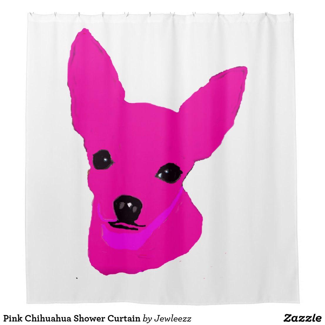 Pink Chihuahua Shower Curtain Zazzle Com Chihuahua Pink Shower