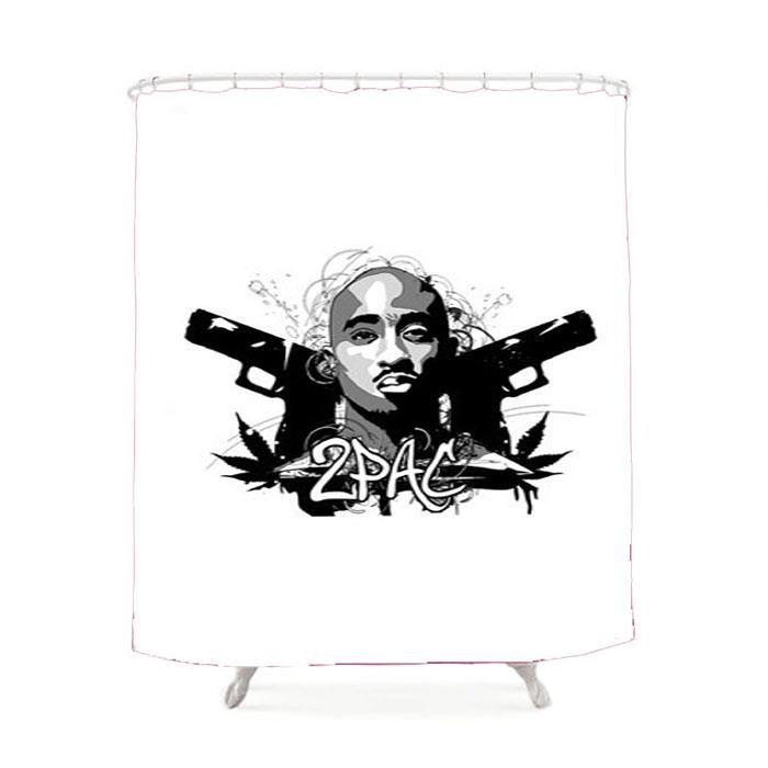 Tupac Shakur Shower Curtain