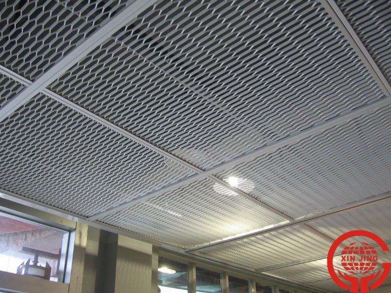 Metal Stretched Drop Ceiling Tiles Grid Panel False Ceiling Living Room Metal Ceiling False Ceiling