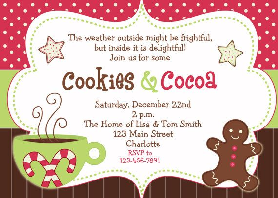 cookies and cocoa winter party invitation winter birthday you