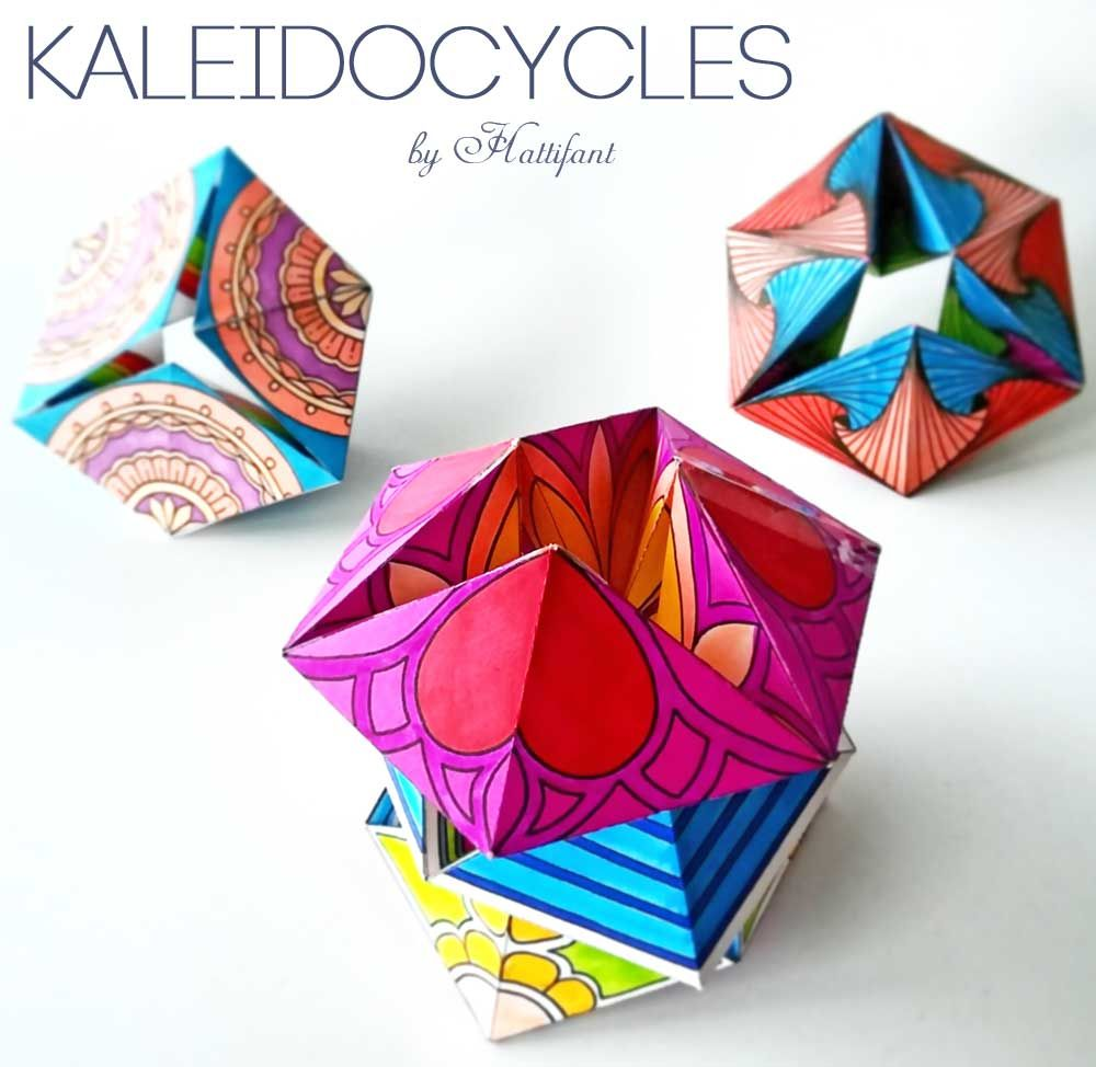 Hattifant Kaleidocycles Such A Fun Paper Toy To Color Craft And