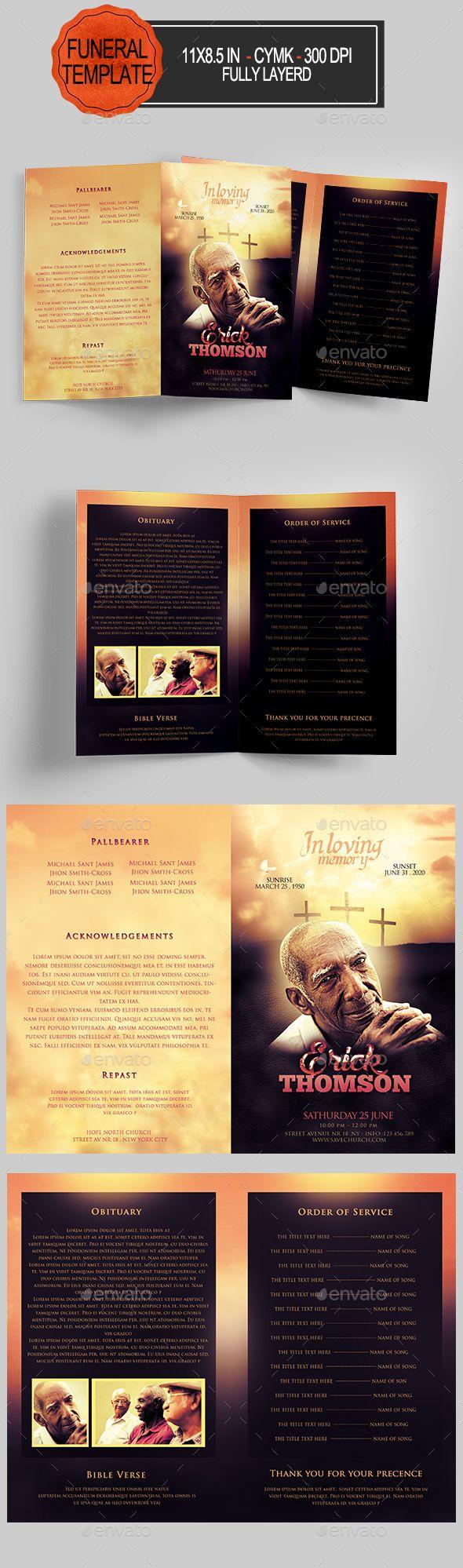 funeral program template program template funeral and brochures