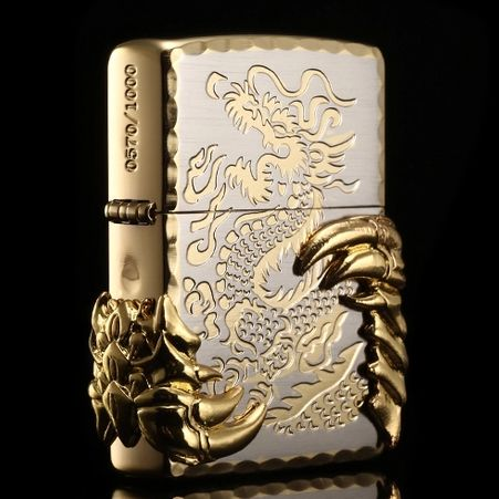 Japanese Golden Tribal Dragon Zippo Limited Edition Zippo Lighter Zippo Zippo Collection