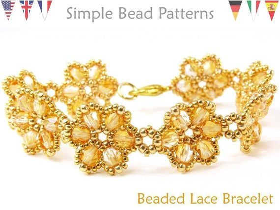 Photo of Beading Pattern – Beading Tutorial – Beaded Bracelet Flower – Bracelet Pattern – Choker – Wedding – Simple Bead Patterns – Beaded Lace #21