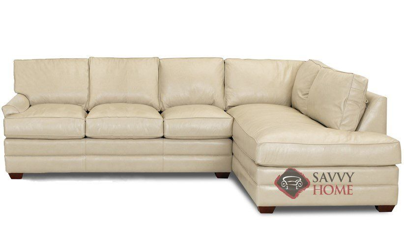 Gold Coast Leather Chaise Sectional Sofa By Savvy At Home 3 249 00