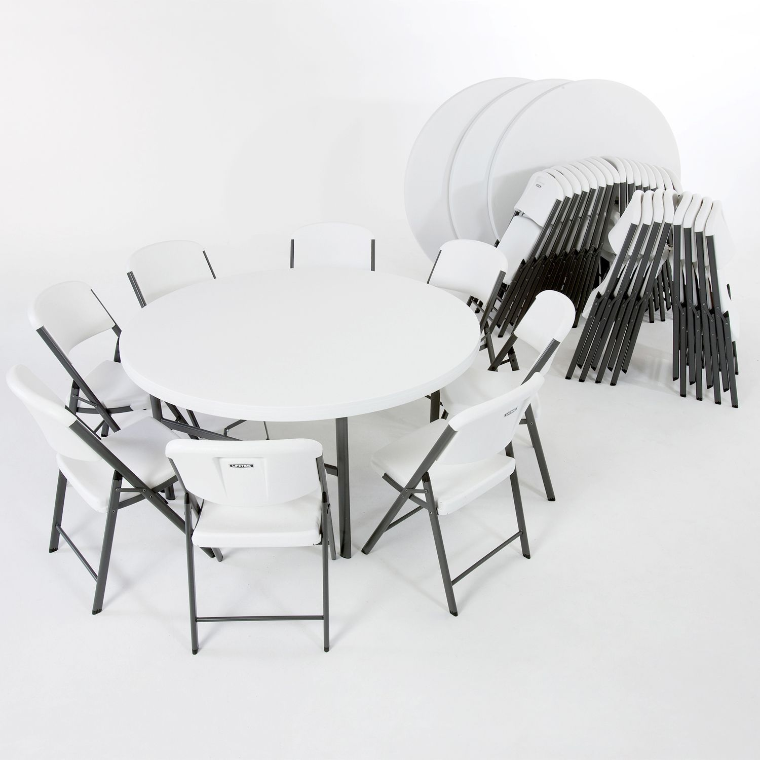 folding chair desk combo bistro table and chairs walmart lifetime 4 5 39 round 32 18