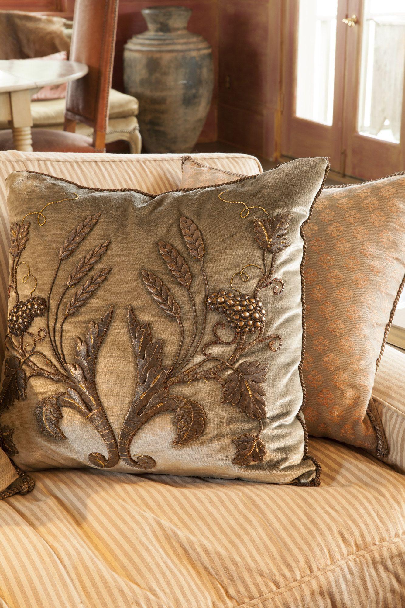 Rebecca Vizard Antique Textile Throw Pillow Design Photos Architectural Digest Designer Pillows