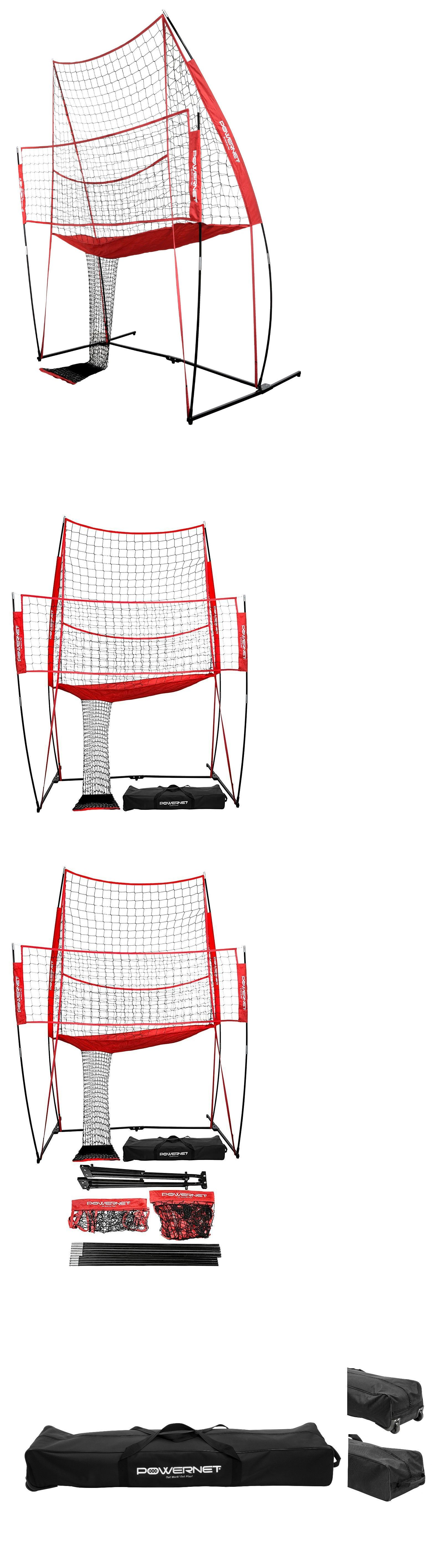 Nets 159131 Powernet Volleyball Practice Net 8 W X 11 H Ball Return Hitting Station Buy It Now Only 399 99 On Ebay Powerne Nets 159131 Volle