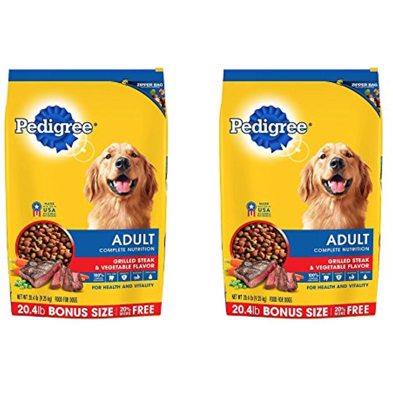 Pedigree Complete Nutrition Adult Dry Dog Food Bonus Bags Ctwoqy