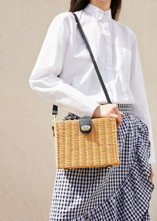 Bamboo Basket Bag Woman Mango Basket Bag Bags Bamboo Basket