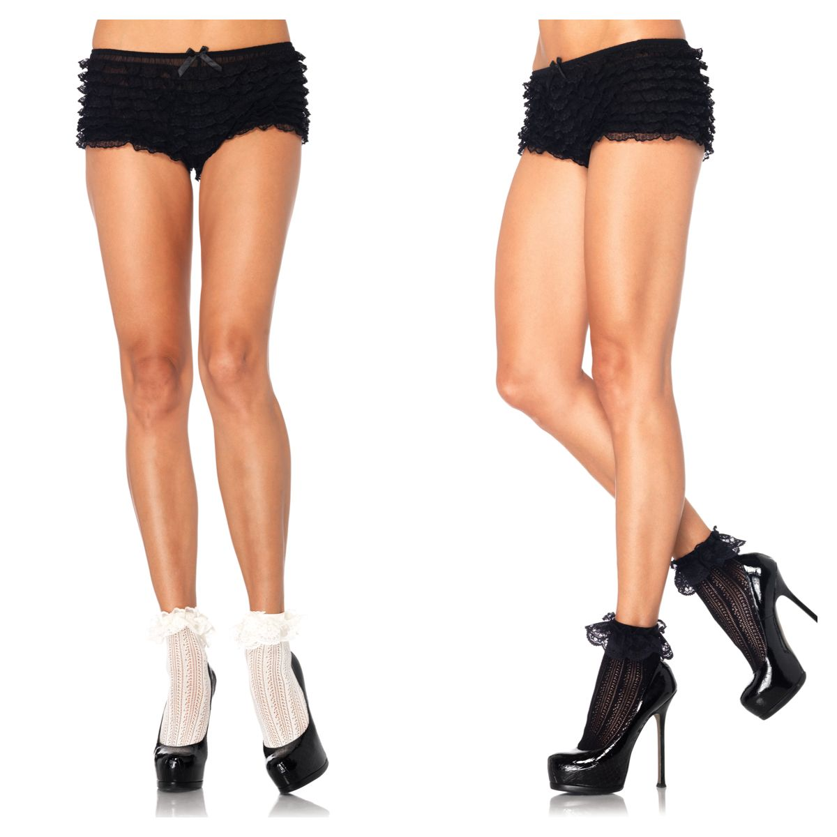 Be flirty in our crochet net lace top anklets. style 3031 www.legavenue.com