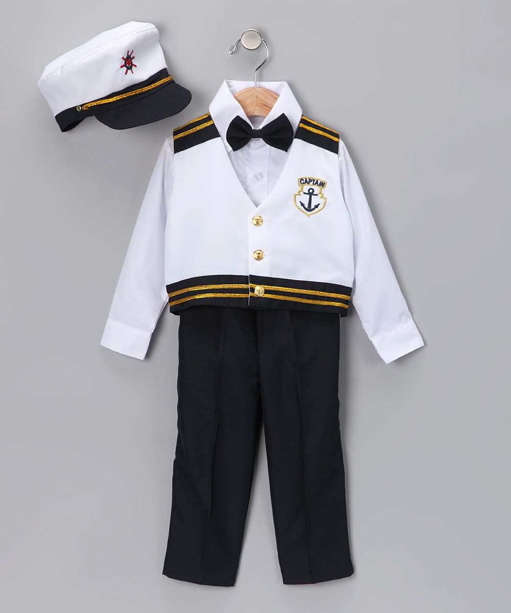 51c0b88a8 Look at this White Marine Five-Piece Suit - Infant, Toddler & Boys ...