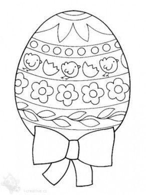 Disegno Di Pasqua Con Uovo Con Pulcini Pasqua