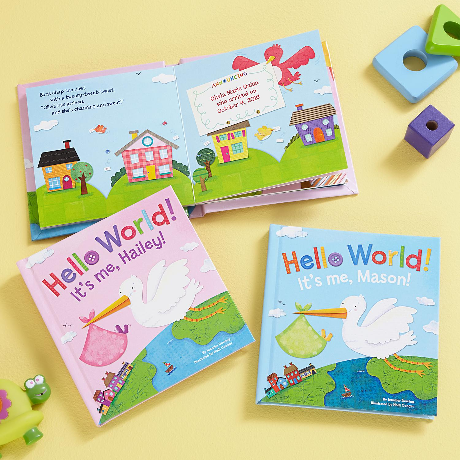 28516f7ced Hello World It's Me Book | Products | Personalized gifts for mom ...