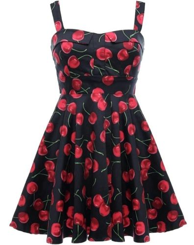 c4a7a03cfc9 Darling Dress Black Cherries Fold Over Pinup Dress - Modern Grease Clothing  and Accessories Co.