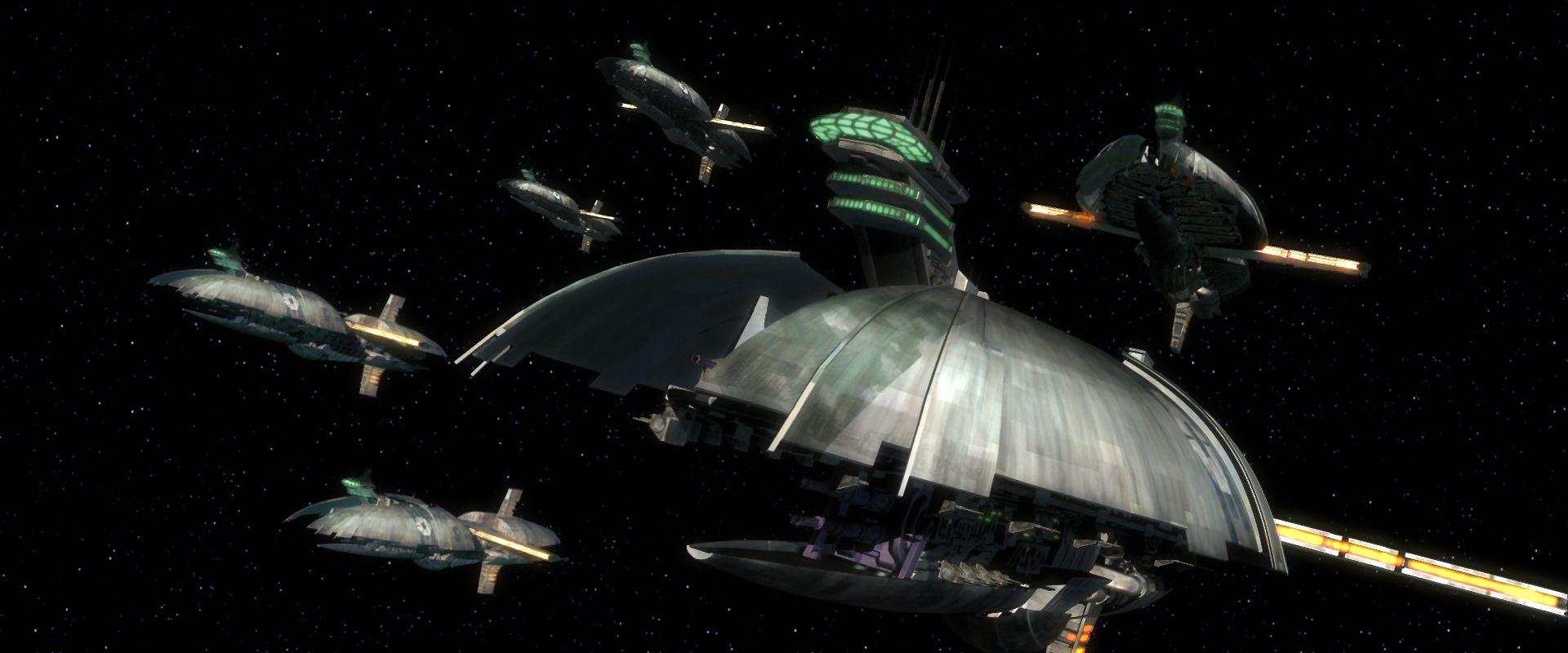 The Separatist War Machine Star Wars Wallpaper Star Wars Ships Star Wars Clone Wars