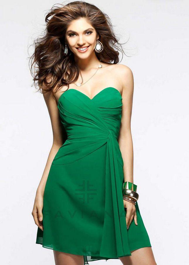 Short Green Dress Cheap