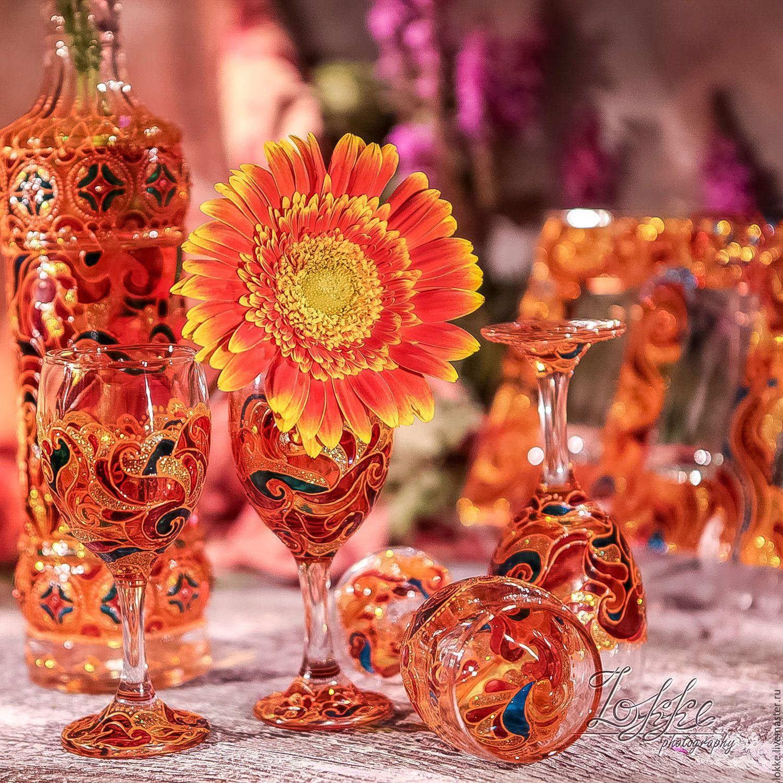 Бокалы, стаканы ручной работы. Набор для крепленых ...