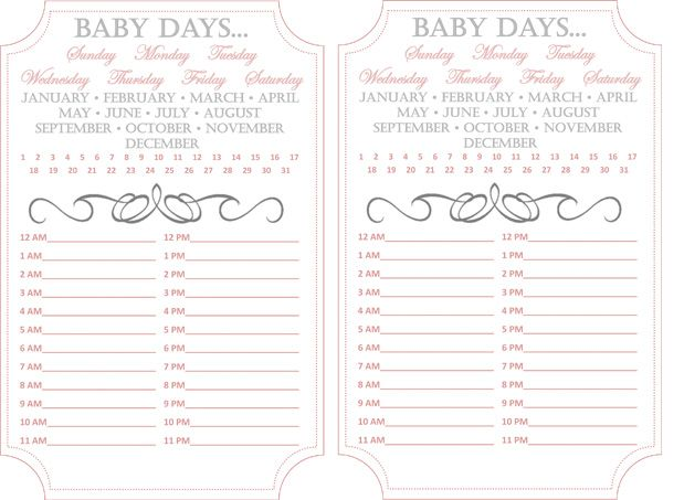 Am Rise Shine  Print Out This Hand Chart For The New Mom To