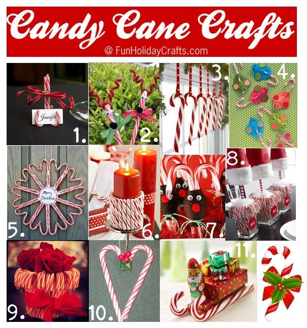 Christmas Candy Craft Ideas Part - 50: 10+ DIY Craft Ideas Made Out Of The Holiday Favorite Candy Canes That  Include Table