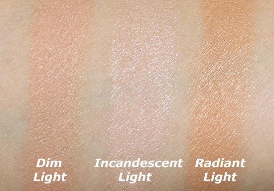 Exceptional Hourglass Ambient Lighting Palette Swatches
