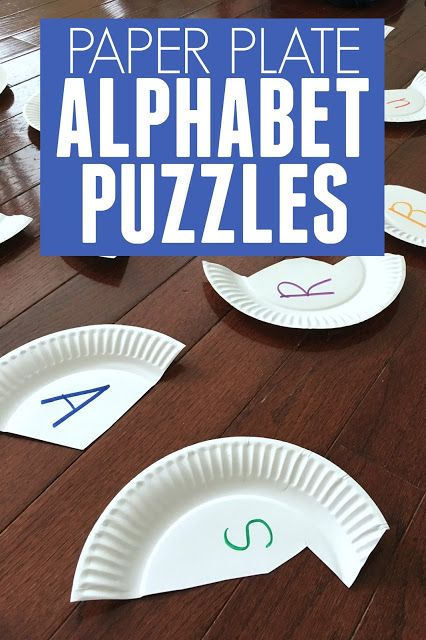 Alphabet Paper Plate Puzzles & Alphabet Paper Plate Puzzles | Kid activities Learning and Teacher